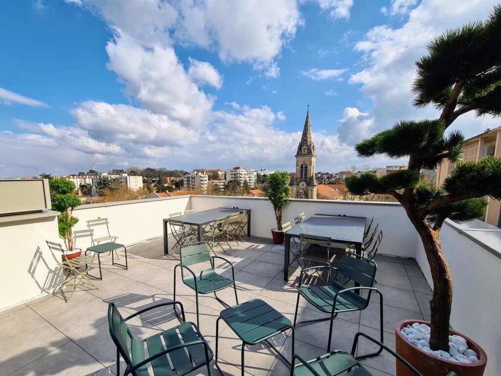 Katalyse-coworking terrasse Lyon Montchat